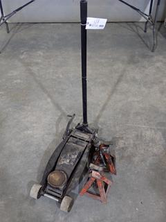 Pro Series Floor Jack C/w (2) Motomaster 3-Ton Jack Stands