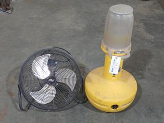 400W Metal Halide Wobble Light C/w Cool Works Model YY545 Fan