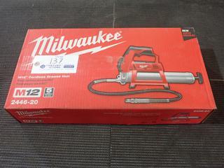 Milwaukee M12 2446-20 Cordless Grease Gun. *Unused*