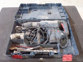 Bosch 120V Combination Hammer Drill C/w Assorted Bits