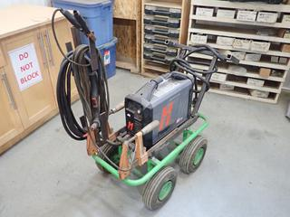 Hypertherm Powermax 45XP Single Phase Plasma Cutter C/w Hypertherm Duramax Cutter And 30in X 15in Cart. SN 45XP-056711