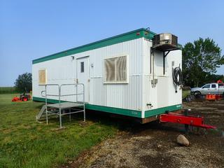 2002 Northgate Industries 32ft X 10ft X 10ft T/A 30A 120/240V Single Phase Portable Office Trailer C/w Coleman Model DGAA056BDTB Gas Furnace, Staircase, Pintle Hitch And 14-8-14.5lt Tires. SN 14514-1032-W0-09N02