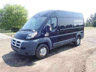 2014 Dodge Ram Pro Master 2500 Cargo Van C/w 3.0L Ecodiesel, A/T, Shelving And 225/75R16 Tires. Showing 87,878Kms. VIN 3C6TRVCD9EE112655