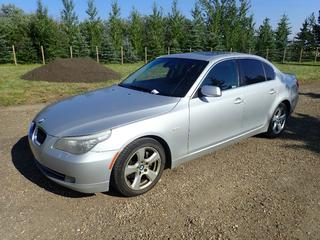 2008 BMW 535xi 4-Door Sedan C/w 3.0L Inline 6 Turbo, A/T, AWD, Leather, Sunroof And 225/50 R17 Tires. Showing 274,767kms. VIN WBANV93558CZ66712 *Note: Bulge In Rear Driver Tire, Engine Malfunction Reduced Power Light On, Scanner Indicates Fuel Rail Pressure Below Minimum*