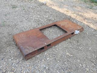 48in X 18in Plate Attachment To Fit Skid Steer