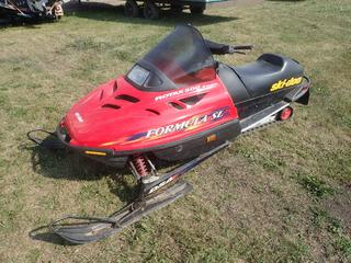 1997 Bombardier Rotax 500 Formula SL Sled C/w Bombardier Rotax M4947358 Motor, 38in Skis And Extra V-Belt. Showing 3288kms. VIN 122400126