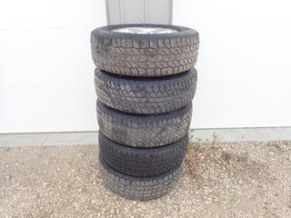 Qty Of (4) Cooper Discoverer 255/70 R18 Tires w/ 5-Stud Jeep Rims C/w (1) Cooper Dueler 255/70 R18 Tire w/ 5-Stud Jeep Rim