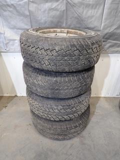 Qty Of (4) Bridgestone Dueler 235/70 R15 Tires w/ 6-Stud Steel Rims