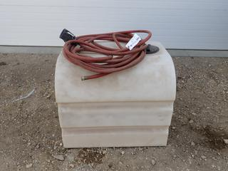 32in X 30in X 27in Liquid Storage Tank Container C/w Water Hose