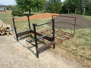 73in X 60in X 44in Steel Frame C/w 80in X 36in X 52in Steel Stand