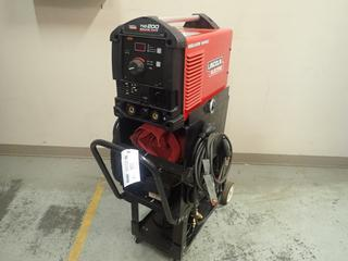 Lincoln Electric Square Wave TIG 200 Single Phase TIG Welder C/w Cart, Lincoln K870 Foot Amptrol w/ Controller, Magnum TIG Torch, Cable And Regulator. SN M3170404598