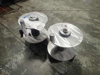 (2) Shell-Ryn Aluminum Welding Reels w/ Mounts *Unused*
