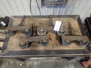 Qty Of (4) Adjustable Pipe Stand Roller Heads