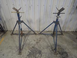 (2) ABA 4000lb Cap. Adjustable Pipe Stands