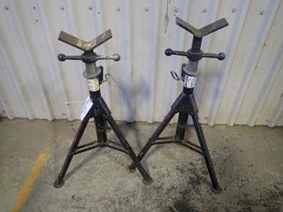(2) Sumner 2000lb Cap. Adjustable Pipe Stands