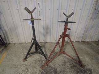 (2) Adjustable Pipe Stands