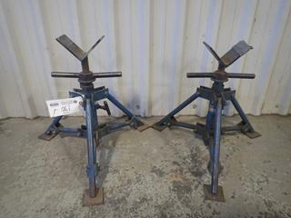 (2) ABA Adjustable Pipe Stands
