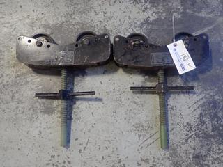 (2) Javelin PR220 2600lb Cap. Pipe Roller Heads