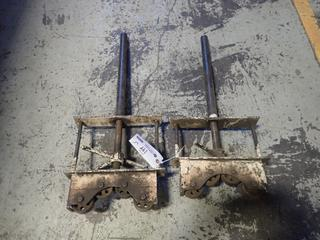(2) Adjustable Pipe Stand Roller Heads