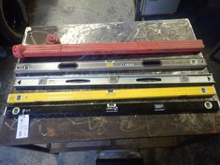 (1) Stanley Fat Max Xtreme 4ft Level C/w (2) Stabila 4ft Levels And (1) Stanley 4ft Level