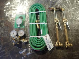 Oxy/Acetylene Hose C/w (2) Torches And Gauges