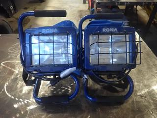 (2) Rona Portable Work Lights w/ Case