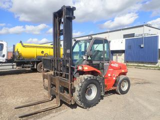 2005 Manitou MC 50 Series-3-E2 5000KG Cap. Forklift c/w Diesel Engine, EGS 8-Speed, 2-Stage Mast, Side Shift And 4ft Forks. Showing 11525hrs. SN 217651 *Note: Glass Damaged On Door*