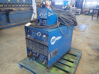 Miller Dimension 452 CC/CV.DC 230/460/575 3-Phase Welding Power Source C/w Miller 70 Series 24V Single Phase Wire Feeder And Cable. SN LE338694