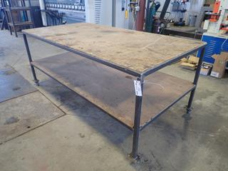 8ft X 4ft X 3ft Shop Table *Note: Item Cannot Be Removed Until September 17th Unless Mutually Agreed Upon*