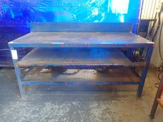 72in X 30in X 34in Steel Work Bench *Note: Item Cannot Be Removed Until September 17th Unless Mutually Agreed Upon*