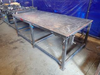 97in X 48in X 36in Steel Work Bench *Note: Item Cannot Be Removed Until September 17th Unless Mutually Agreed Upon*