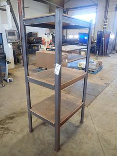 32in X 26in X 72in 3-Tier Steel Stand w/ Plywood Shelves