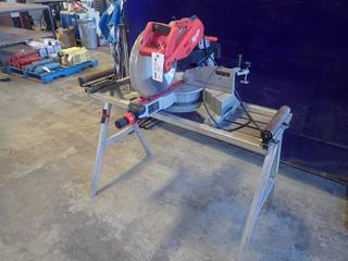 Milwaukee 120V 12in Sliding Compound Miter Saw C/w Light And Stand