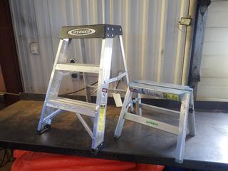 Werner 26in Step Ladder C/w Telesteps 11 1/2in 1-Step Aluminum Ladder