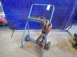 Oxy/Acetylene Cutting Torch Cart C/w Hose, Torch And Gauges