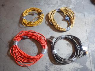 Qty Of (4) Assorted Length Heavy Duty Extension Cords