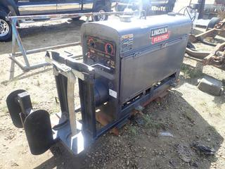 2004 Skid Mtd. Lincoln Electric Classic 300D Diesel Welder C/w Perkins Engine. Showing 4756hrs. SN C1040500250