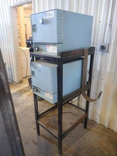 (2) 26in X 20in X 50in Gullco Model 125 115V Electrode Stabilizing Ovens C/w Steel Stand