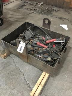 Quantity of Assorted Welding Grounds w/Steel Crate.