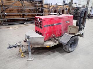 "8' Welding Trailer c/w Lincoln Electric Ranger 300 DLX Diesel Welder, Quantity of Welding Wire, Stingers, Ground Rod, Showing 2078 Hours, Kubota D905E Diesel Engine, 34""x14""x10"" Storage Box, 2"" Ball Hitch, 225/75R15 Tires. S/N U1970604897. Not Battery, Running Condition Unknown."