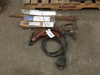 Assorted Welding Electrodes, Welding Ground Arcair K4000 Stinger.