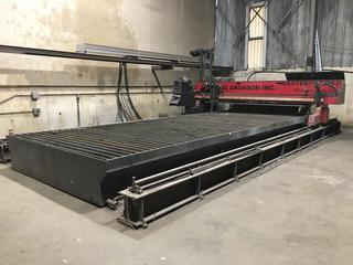 2005 Koike Aronson Inc. MGM2-2500 CNC Plasma Cutting Machine c/w Hypertherm HT4400 Hyspeed Plasma Cutter, Hypertherm IP22 Gas Console & Ignition Console, Promotion Controls RS-332 Koik Car CNC Controller, 2500mm Capacity, Table Size 25'Lx10'W, S/N 41449. Buyer Responsible For Load Out.