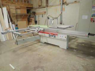 2016 SCM SI400 Nova 220V 3-Phase Table Saw w/ 126in X 72in Sliding Carriage, 400mm Max Diameter  And 0-45Deg Blade Tilt. SN AB/228402 *Note: Buyer Responsible For Disconnect And Loadout*