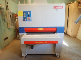 Cantek PR-900A 68A 230V 3-Phase 36in Belt Sander w/ DP-6265 Digital Controller. Showing 538hrs. SN 040457 *Note: Buyer Responsible For Disconnect And Loadout*
