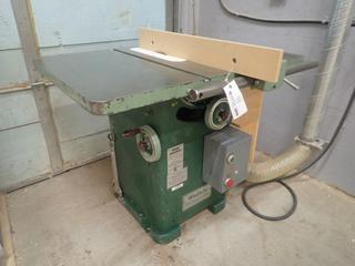 Wadkin Bursgreen Model 10AGS 230V 3-Phase 10in Table Saw w/ 40in X 28in Table. SN 78234 *Note: Buyer Responsible Disconnect And Loadout*