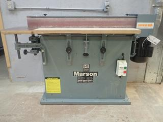 1994 Marson CT-108 220V Single Phase Belt Sander w/ 2hp Induction Motor And 6in X 108in Belt. SN 00006