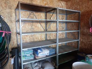 (2) 3ft X 2ft X 6ft8in Metal Shelving Units *Note: Contents Not Included*