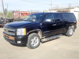 2012 Chevrolet Silverado LTZ Z71 Extended Cab 4X4 Pickup C/w 5.3L V8 Vortec, A/T, Raider VAG 6C7 Truck Canopy, HPI Aluminum Slide Out, Side Rails And 265/65 R18 Tires. Showing 251,251kms. VIN 1GCRKTE71CZ157450 *Note: Vehicle Comes With Maintenance Records.  Dent In Passenger Door, Rear Passenger Side Panel, Driver Rear Side Panel, Rust On Front Bumper And Damage To Rear Bumper*