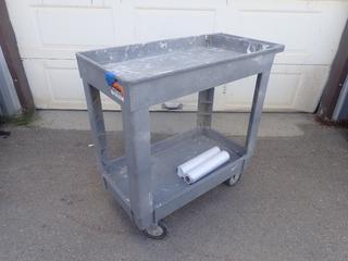 Rubbermaid Portable 2-Tier Shop Cart
