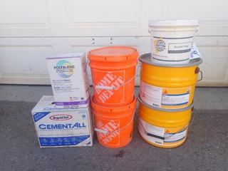 Qty Of Self Leveling Underlay, Concrete Fill, Non Sanded Grout And Krystol Plug And Banding Adhesive